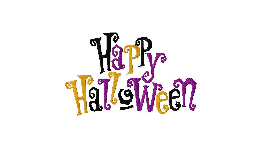 Happy Halloween Machine Embroidery Design Blasto Stitch