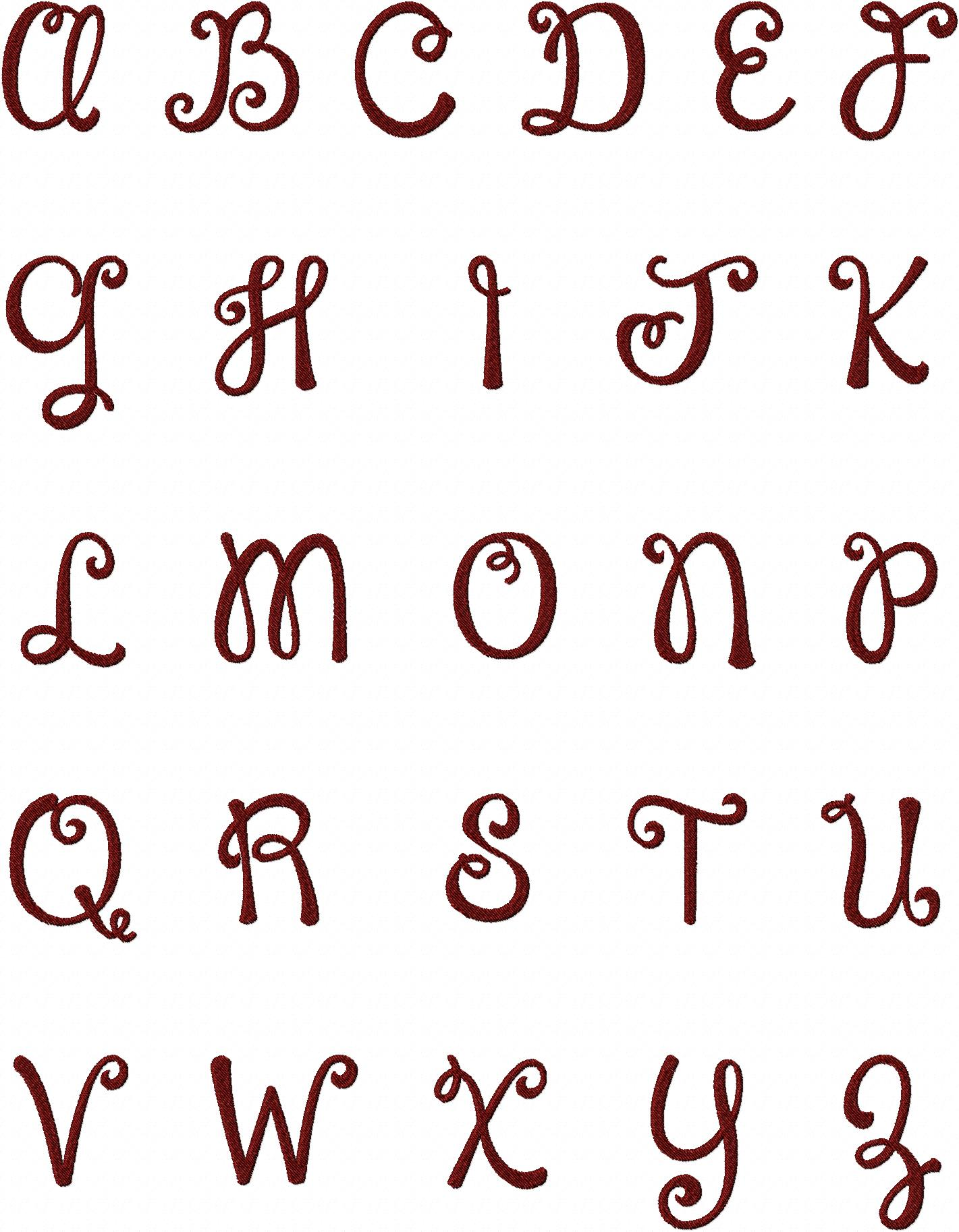 Happy Day Machine Embroidery Monogramming Font Set