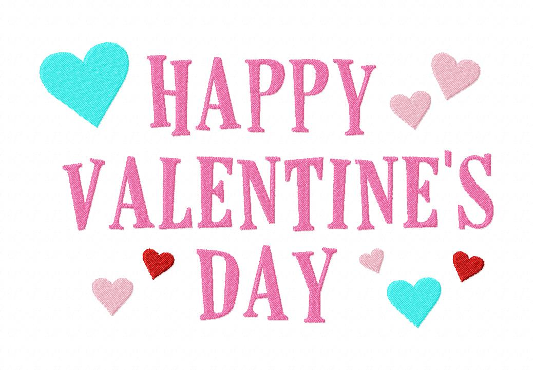 happy valentine's machine embroidery design, Ideas