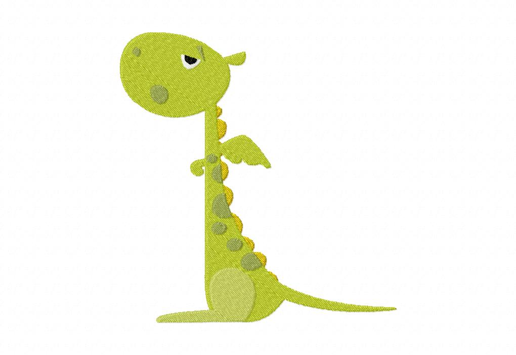 Cute dragon stitched machine embroidery design blasto stitch for Designs for sale