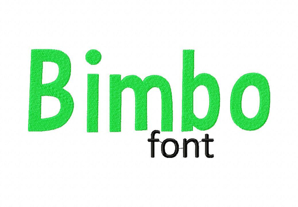 Bimbo Machine Embroidery Monogramming Font Set