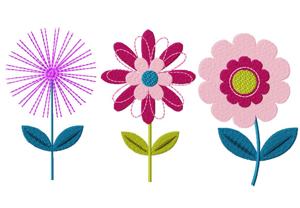 Free machine embroidery flower designs 4k wallpapers three pack of flowers machine sched embroidery design altavistaventures Images