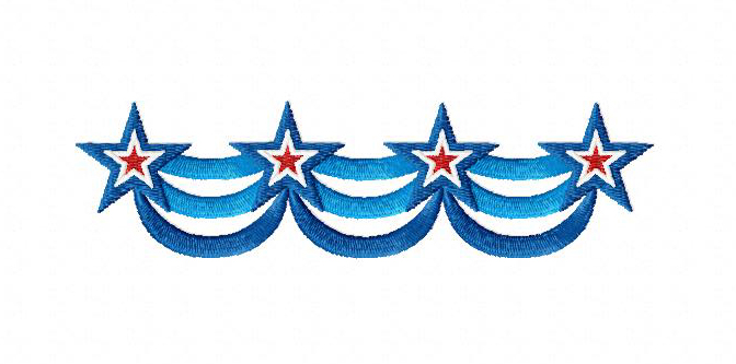 4th of july banner machine embroidery design