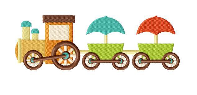 Toy Choo Choo Train Machine Embroidery Design Blasto Stitch