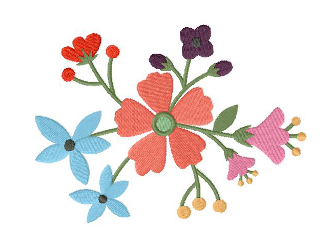 Vintage Flower Machine Embroidery Design Blasto Stitch