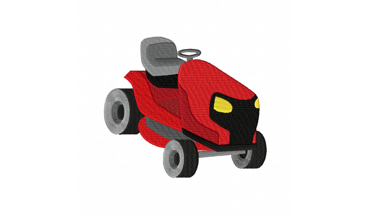 Riding lawn mower machine embroidery design - Lawn mower for small spaces decor ...