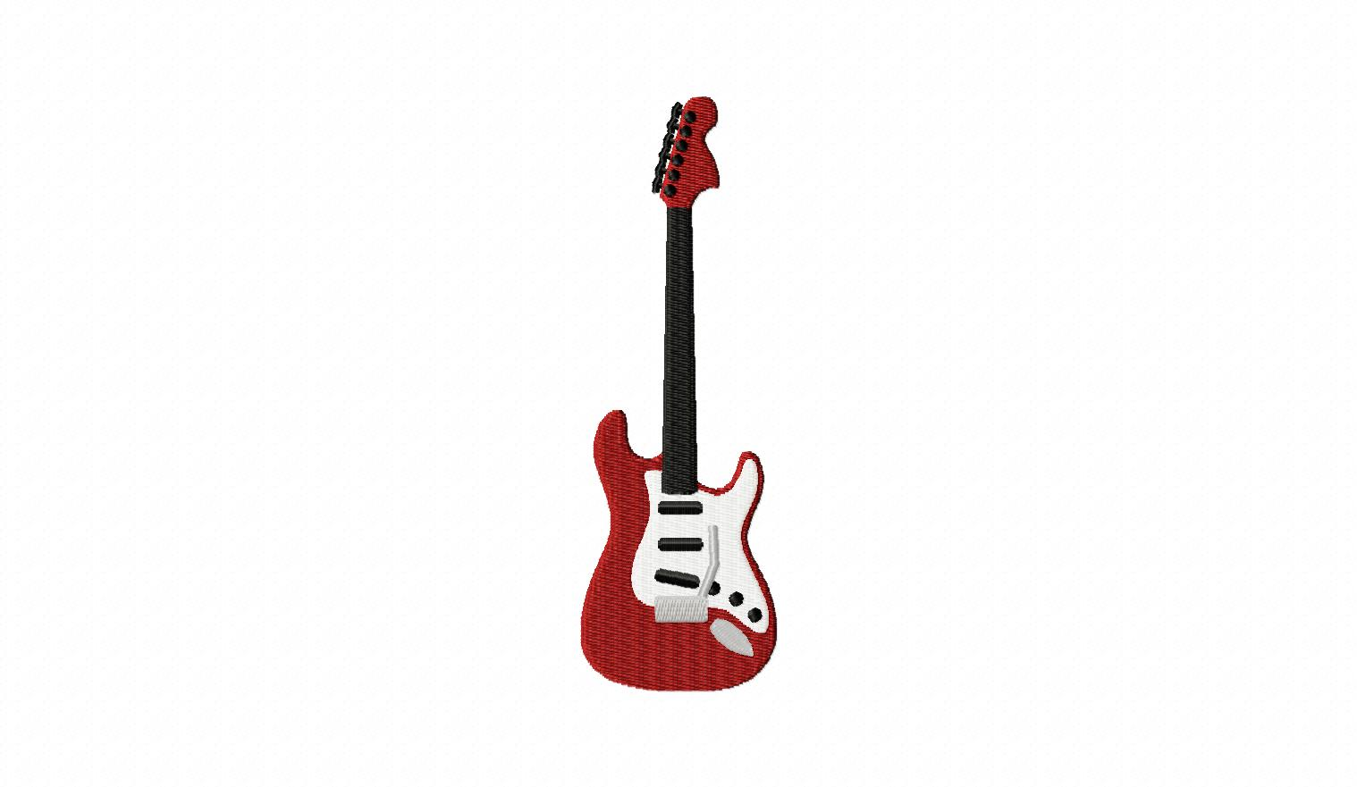 Guitar Embroidery Design Free