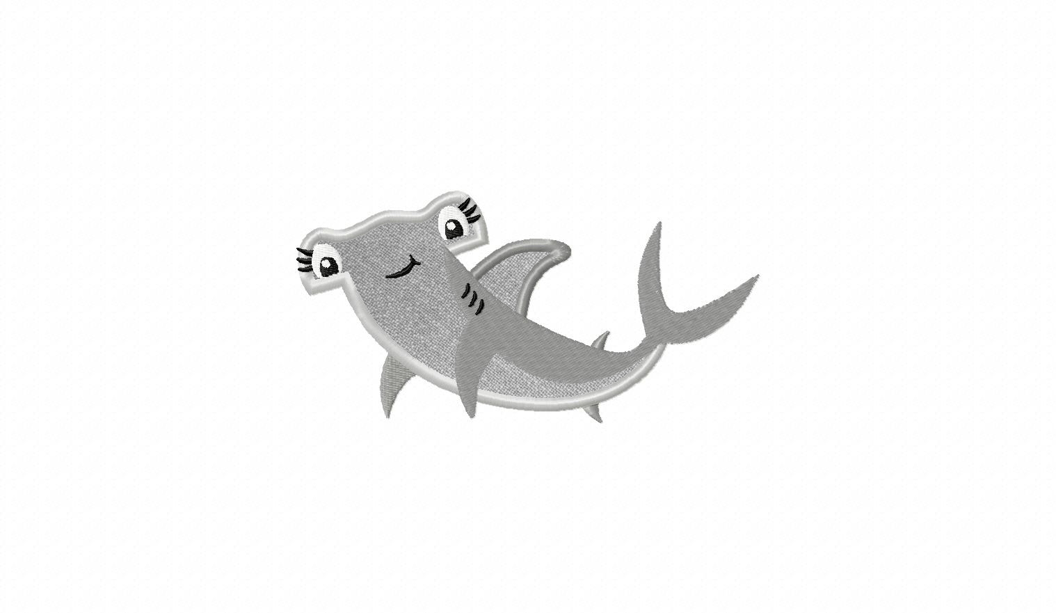 c40a5f4864d Hammerhead Shark Includes Both Applique and Filled