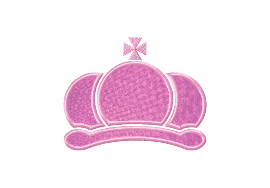 bfe85c387c2 Imperial Crown Includes Both Applique and Filled Stitch