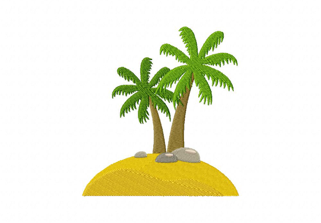 Little island machine embroidery design for Little island design