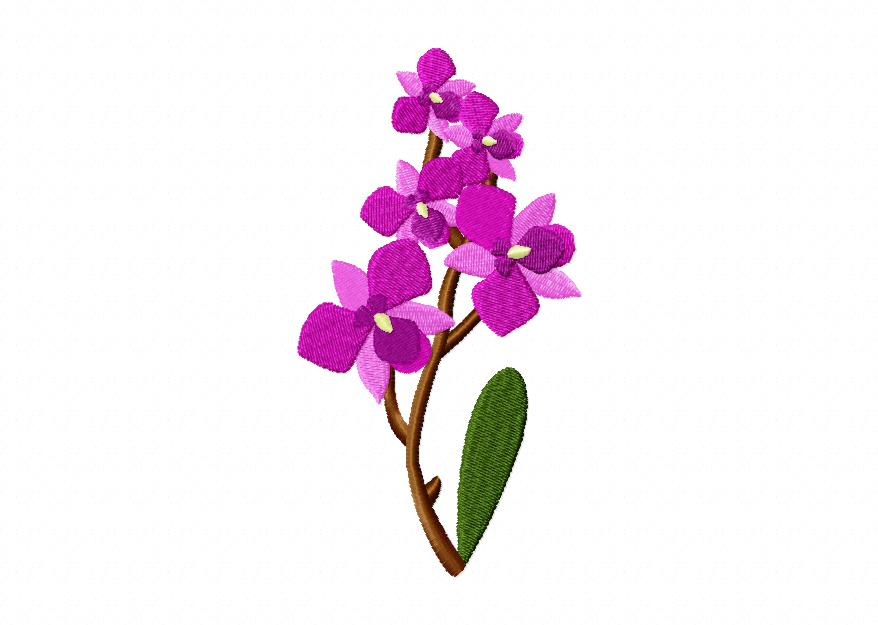 orchid flower machine embroidery design blasto stitch