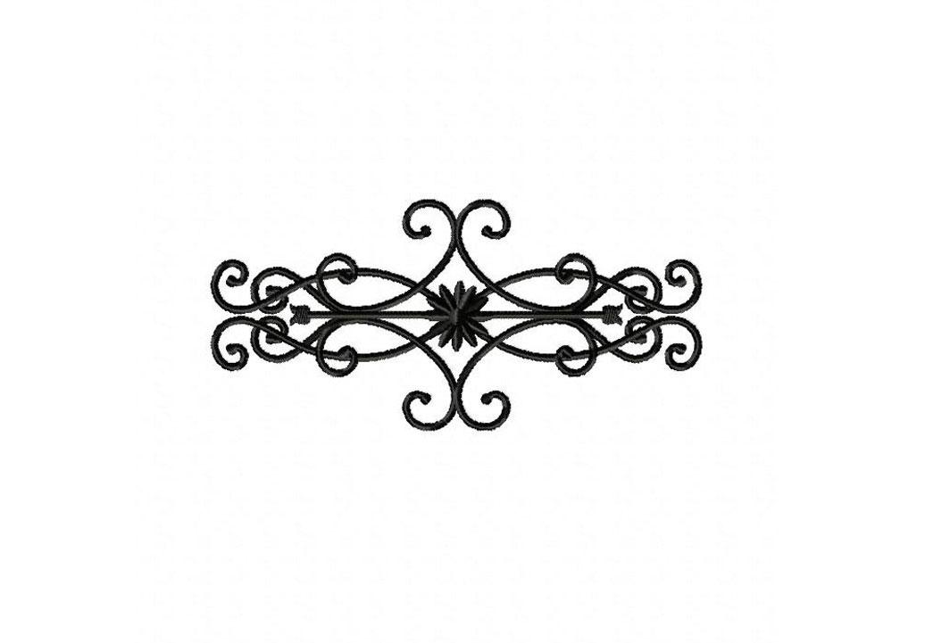wrought iron decor machine embroidery design - Wrought Iron Decor