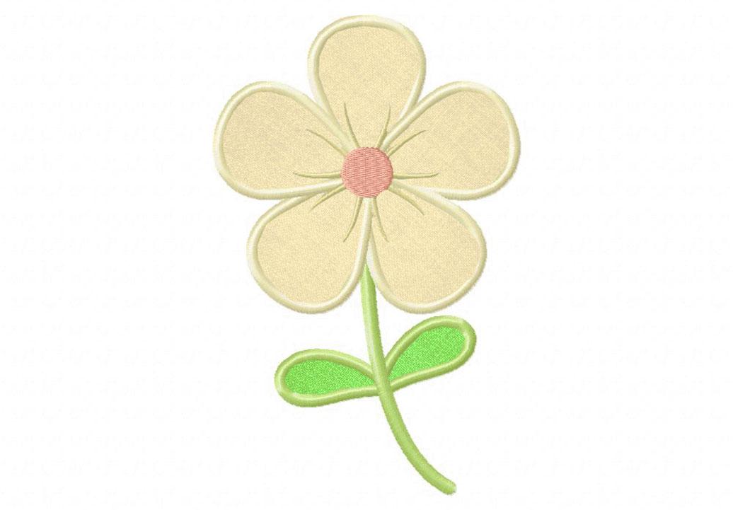 Clearance flower appliques white grace collection triple