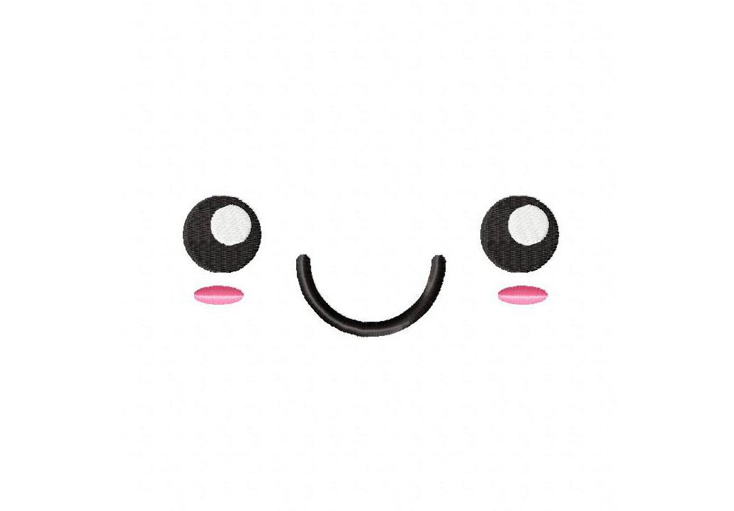 Kawaii Face Smile Machine Embroidery Design – Blasto Stitch