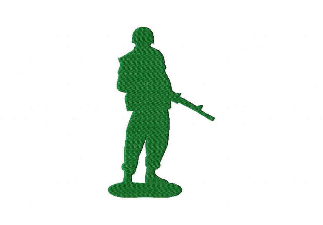 Army Men Stance Machine Embroidery Design Blasto Stitch
