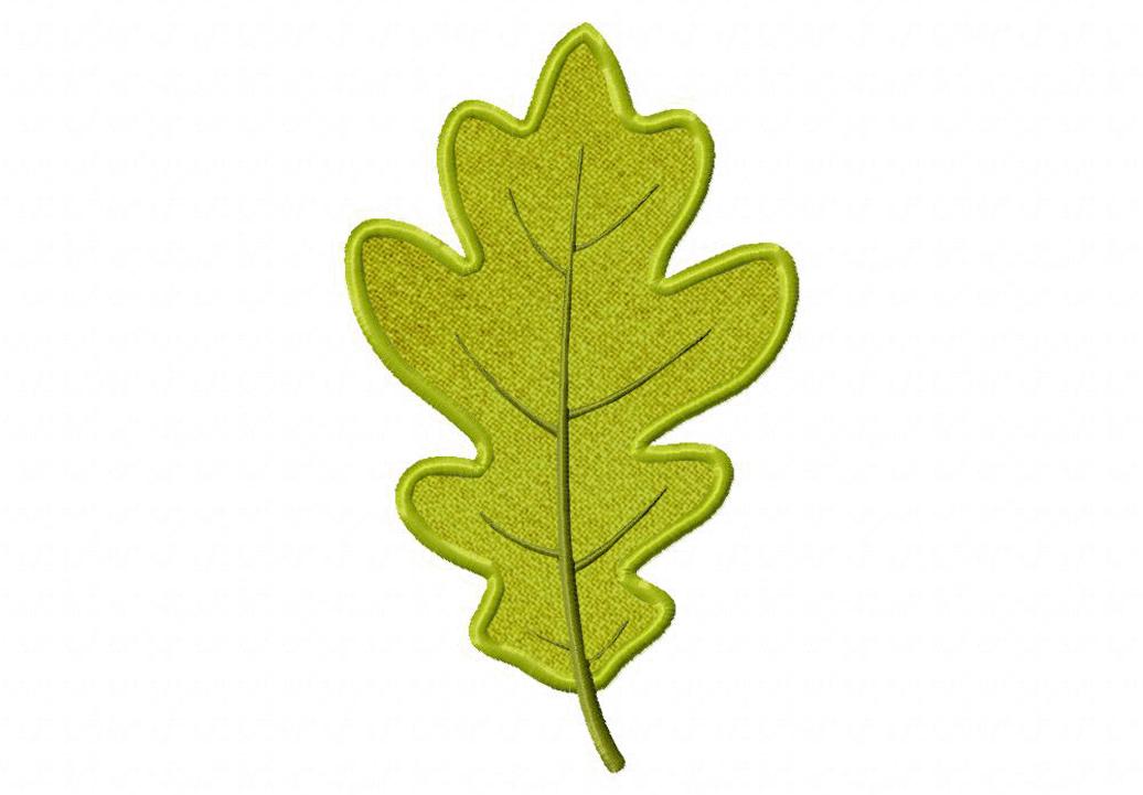 autumn oak leaf both applique and stitched
