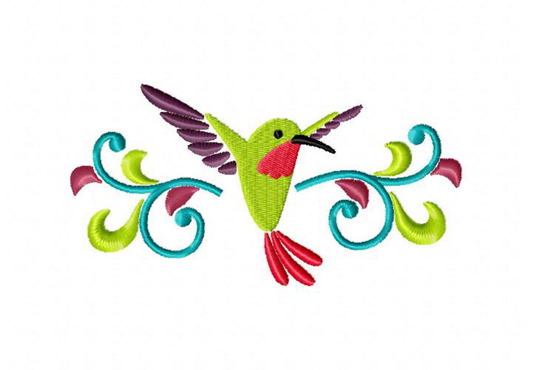 Hummingbird border Machine Embroidery Design