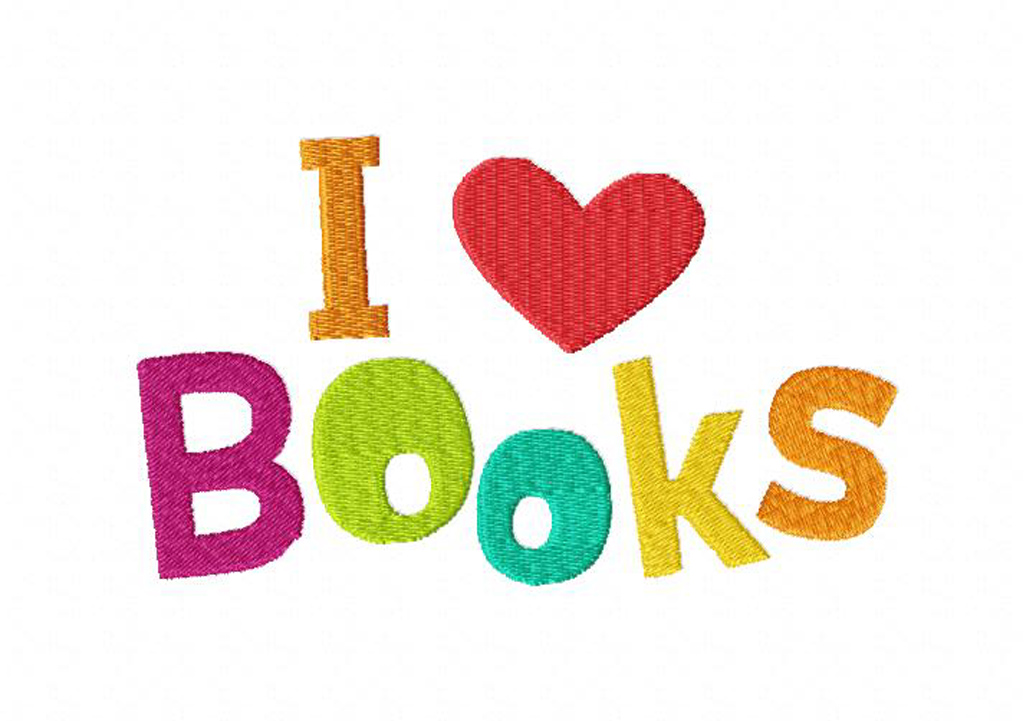 I Love Books Machine Embroidery Design Blasto Stitch