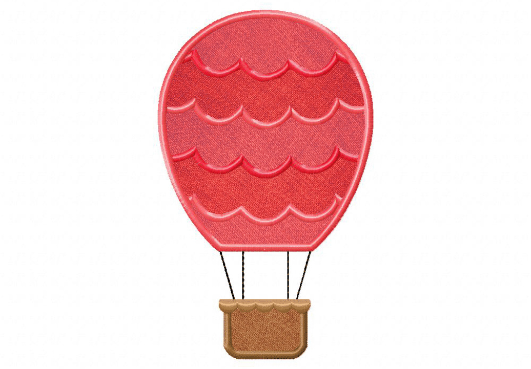 Funky hot air balloon waves includes both applique and stitched