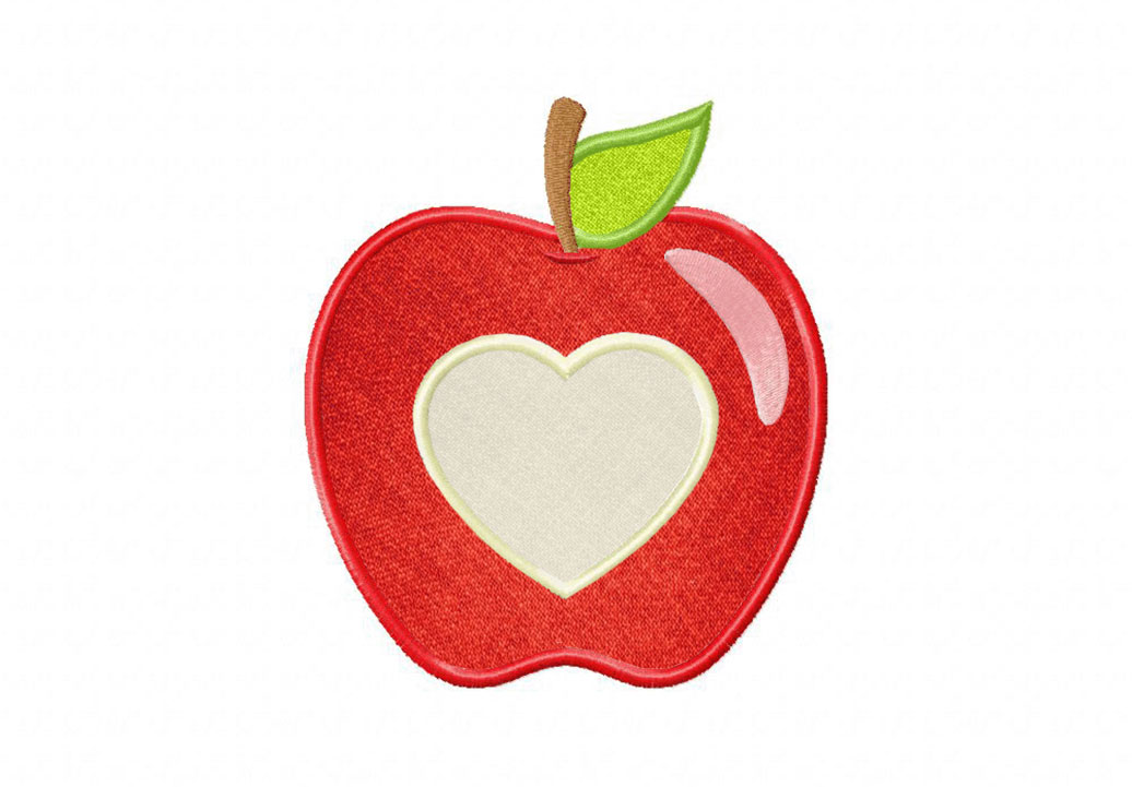 Applique red heart