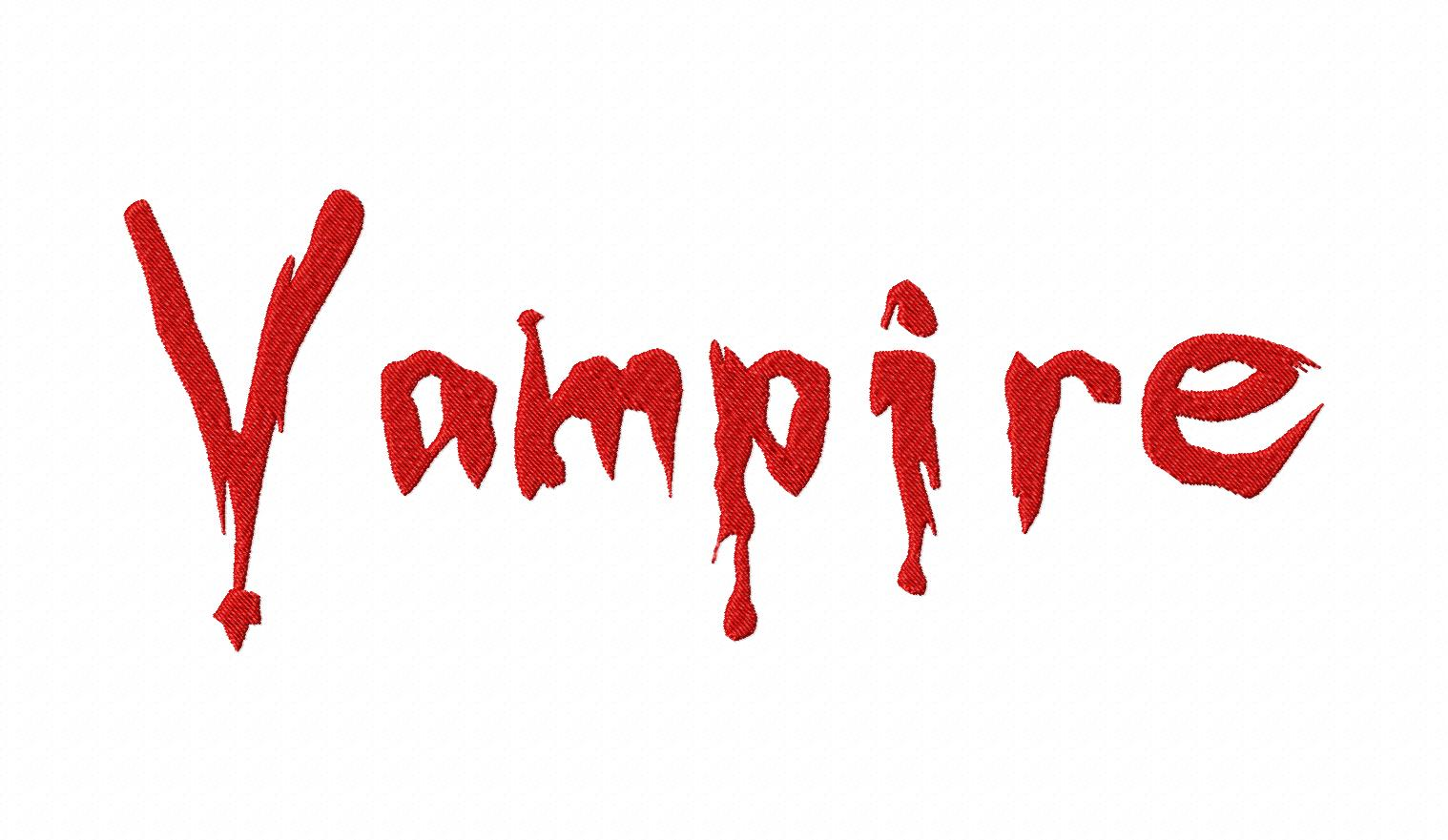 vampire slayer machine embroidery font design