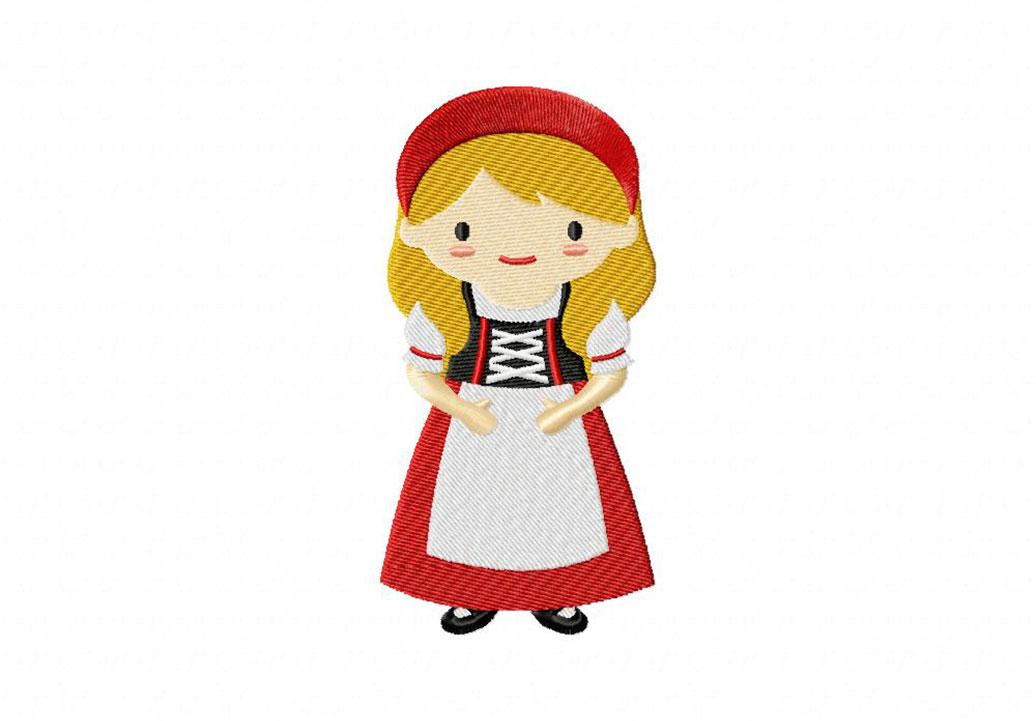 swiss girl machine embroidery design blasto stitch