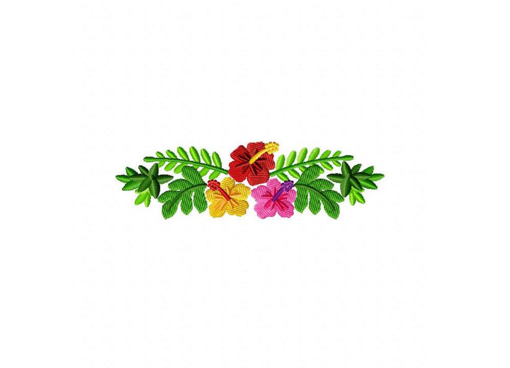 hawaiian border machine embroidery design blasto stitch