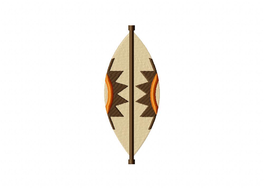 Zulu Shield Machine Embroidery Design