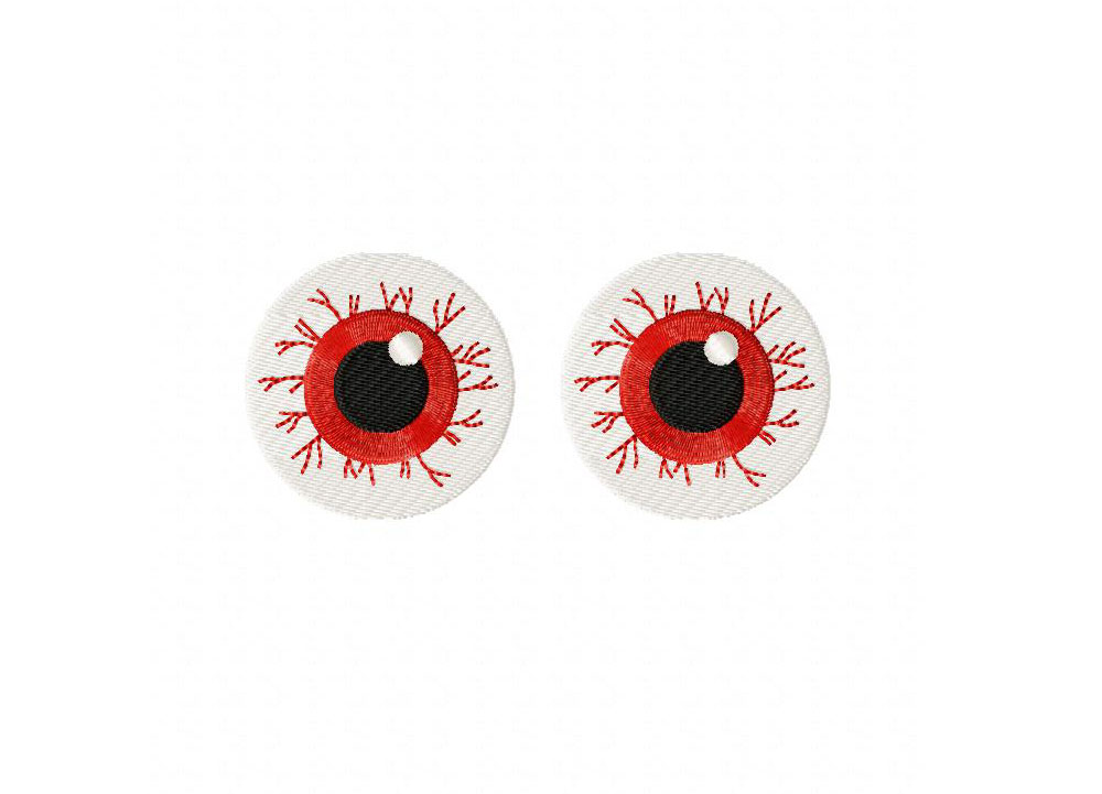 Halloween Spooky Eyes Includes Both Applique And Stitched Blasto Stitch