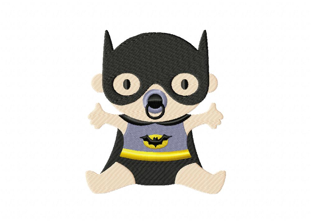 batman baby machine embroidery design