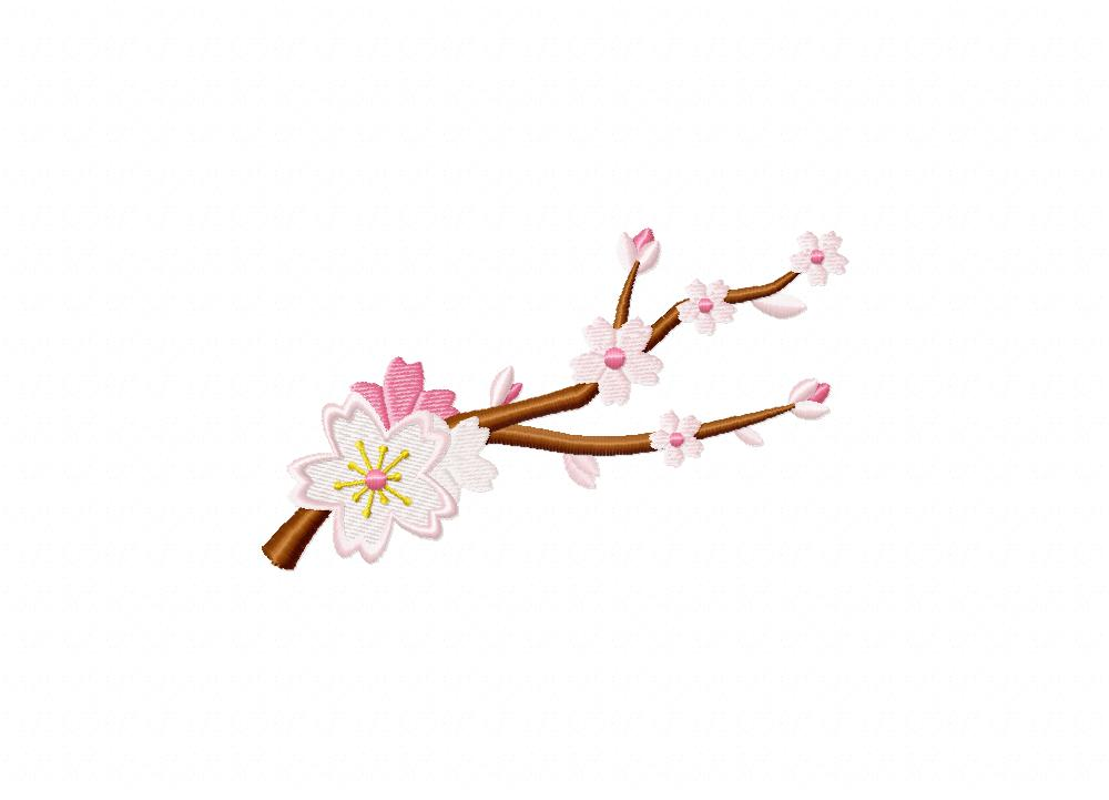 An Cherry Blossom Machine Embroidery Design