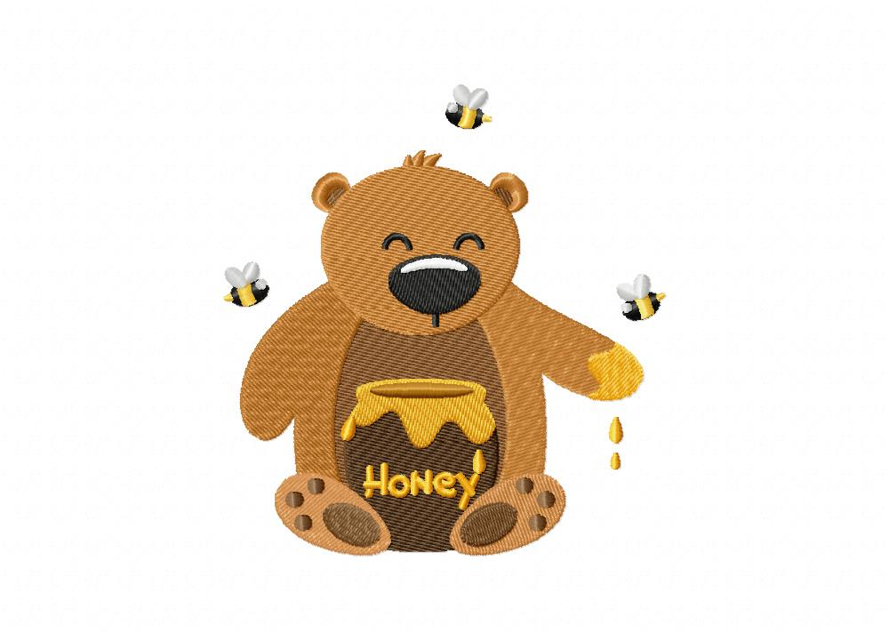 honey bear yum includes both applique and stitched blasto stitch. Black Bedroom Furniture Sets. Home Design Ideas