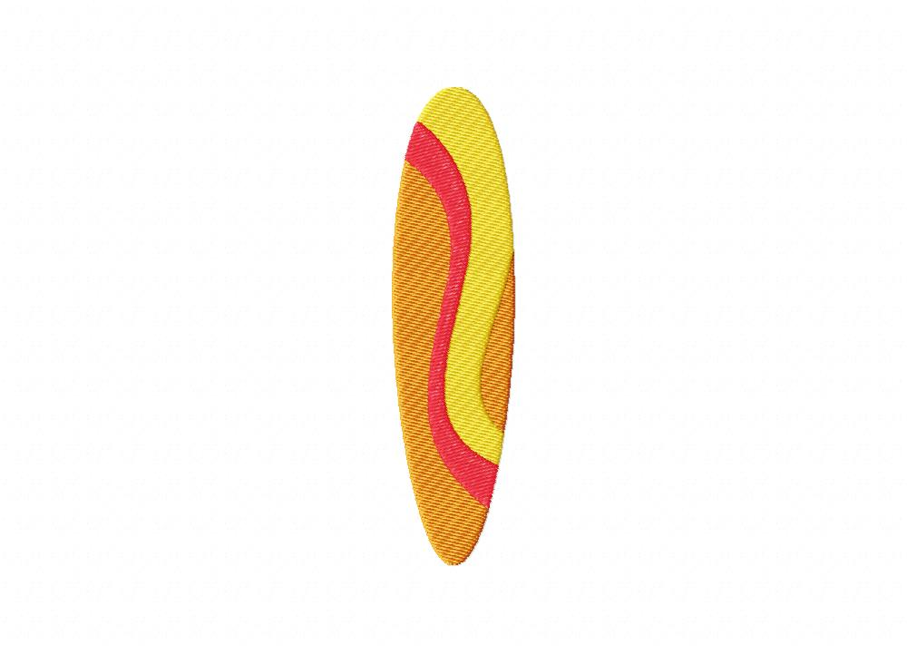 Summer surfboard wave includes both applique and stitched u2013 blasto