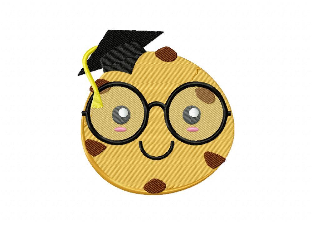 smart cookie graduate machine embroidery design