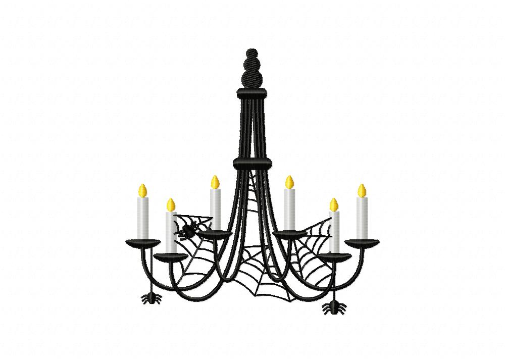Creepy candle chandelier machine embroidery design creepy candle chandelier mozeypictures Gallery