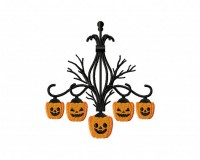 Product categories halloween creepy pumpkin chandelier machine embroidery design mozeypictures Gallery