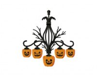Product categories halloween creepy pumpkin chandelier machine embroidery design mozeypictures Choice Image