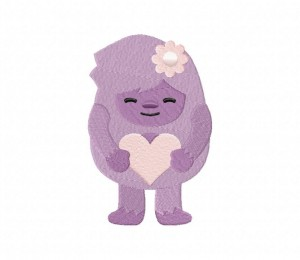 Cute Yeti Girl Stitched 5_5 Inch
