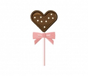 Heart Lollipop Dots Stitched 5_5 Inch