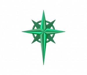 North Star Green Stitched 5_5 Inch