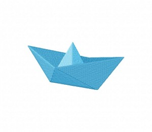 Paper Boat 03 Stitched 5_5 Inch