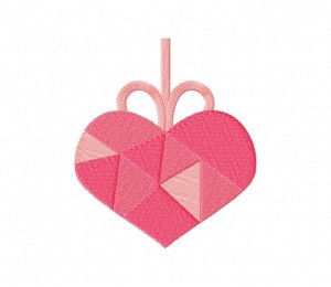 Pink Edgy Heart Stitched 5_5 Inch