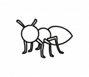 Ant Insect Outline 5_5 inch