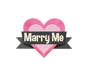 Marry Me Heart Quote Stitched 5_5 Inch