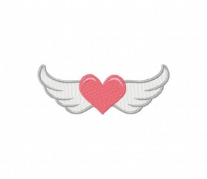 Pink Winged Heart 5_5 inch