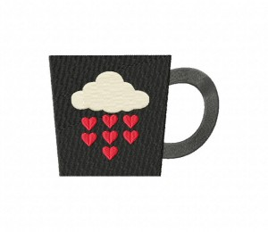 Valentine Coffee Mug Black Stitched 5_5 Inch