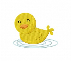 Yellow Duckling Stitched 5_5 inch