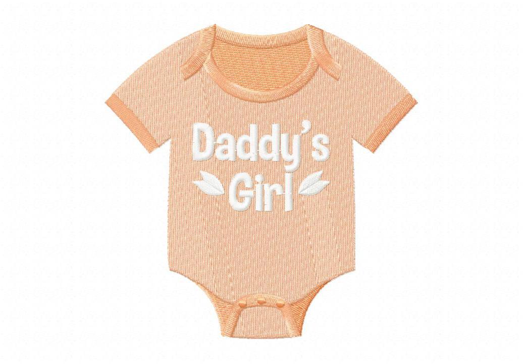 Daddys Girl Onesie Machine Embroidery Design Blasto Stitch