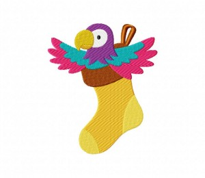 Parrot in Stocking 5_5 inch