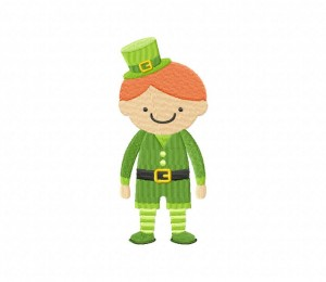St Patricks Day Boy Stitched 5_5 Inch